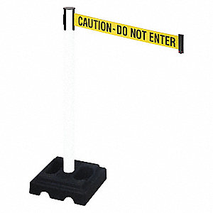 Barrier Post,Black,Ylw/Black Text,Square