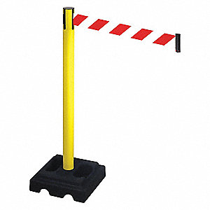 Barrier Post,Black,3 in. Belt W,Square