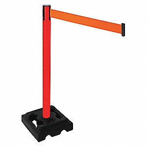 Barrier Post,Square/Fillable,Black