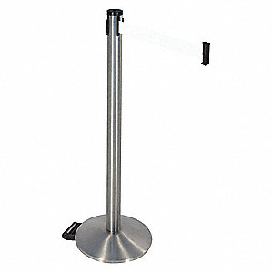 Barrier Post,White Belt,2 in. Belt W