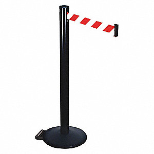 Barrier Post,Red/White Belt,2 in. Belt W