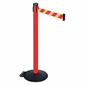 Barrier Post,Magenta/Ylw Belt,2in Belt W