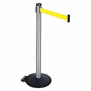 Barrier Post,Satin SS,2 in. Belt W