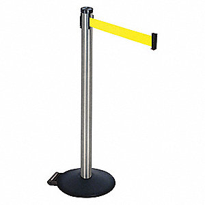 Barrier Post,Fluorescent Yellow Belt