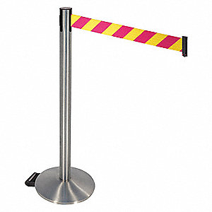 Barrier Post,Satin SS,Magenta/Ylw Belt