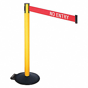 Barrier Post,PVC Post,w/Wheels,No Entry
