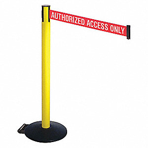 Barrier Post,Black,w/Wheels,40 in. H