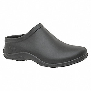 "4-13/32""H Women's Clogs, Plain Toe Type, Black, Size 5"