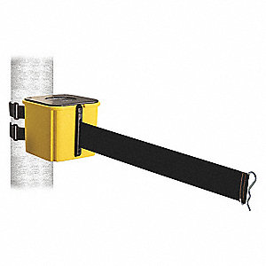 Retractable Belt Barrier, Black, None