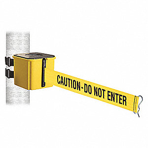 Belt Barrier,Yellow,Wall Mt,25ft.L