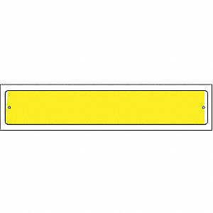 Visibility Strip, Yellow, 12 x 2In, PK25