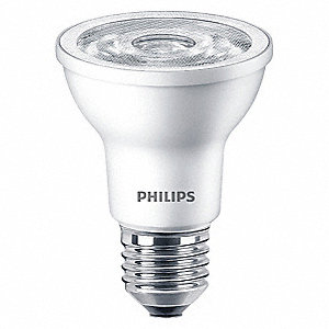 6.0 Watts LED Lamp, PAR20, Medium Screw (E26), 500 Lumens, 3000K Bulb Color Temp.