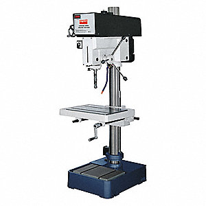 "2 Motor HP Drill Press, Belt Drive Type, 20-13/16"" Swing, 115/230 Voltage"