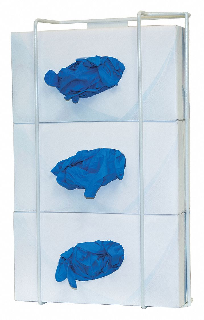 Glove Box Dispenser,  3 Boxes,  PK 2