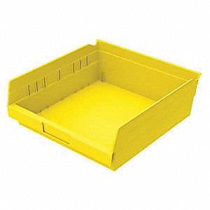 "Shelf Bin, Yellow, 4""H x 11-5/8""L x 11-1/8""W, 1EA"