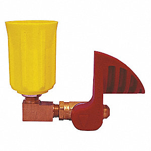 Safety Valve,90 Degrees,Plastic,Yllw/Red