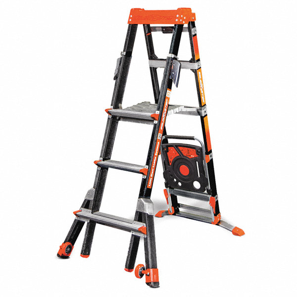 Little Giant Fiberglass 90 Degree Stepladder Configured