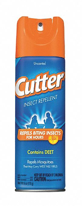 Insect Repellent,  Aerosol,  6 oz,  Outdoor Only,  10.00% DEET Concentration,  DEET