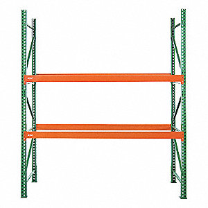 "108""W x 42"" D x 192""H Steel Pallet Rack Starter Unit, 28,800 lb. with Beams Evenly Spaced at 36"""