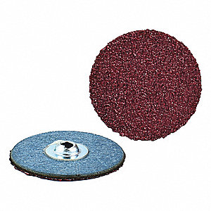 "2"" Coated Quick Change Disc, TS/TSM Turn-On/Off Type 2, 180, Fine, Aluminum Oxide, 100 PK"