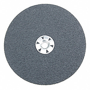 "7"" Coated Fiber Disc, 5/8"" Mounting Hole Size, Extra Coarse, 36 Grit Ceramic, 25 PK"