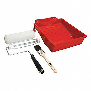 Paint Roller Kit for All Paints, Stain; Number of Pieces: 4