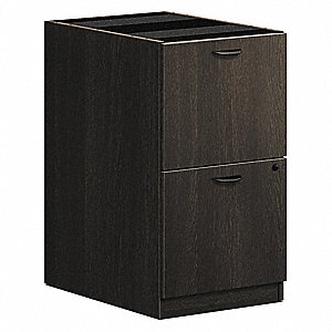 Desk Pedestal,2 Drawers,27-3/4 in. H