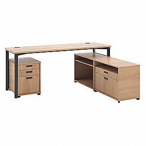 "72"" x 60"" x 29-1/2"" Manage Series L-Shape Workstation, Wheat"