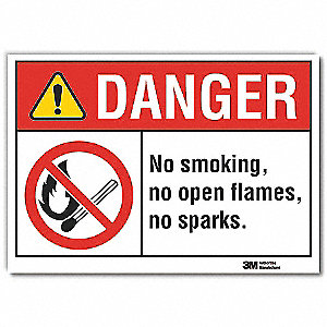 No Smoking Sign,English,3-1/2 in. H