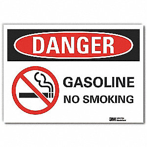 No Smoking Sign,Self-Adhesive,7 in. H