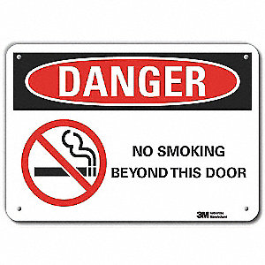 No Smoking Sign,Corner Holes,7 in. H