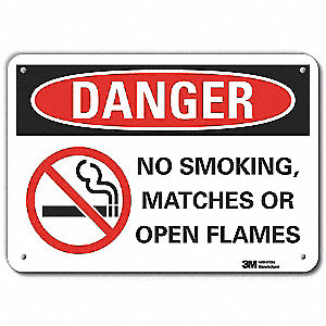 No Smoking Sign,Aluminum,10 in. W