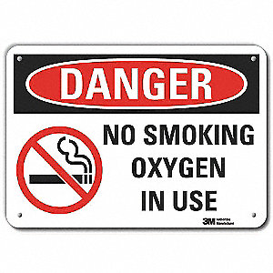 No Smoking Sign,Text and Symbol,Aluminum
