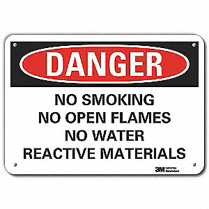 No Smoking Sign,Text,10 in. H,14 in. W