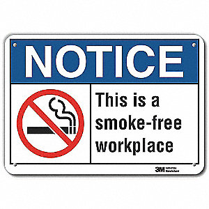 No Smoking Sign,Aluminum,7 in. H