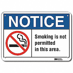 "No Smoking Sign,Aluminum,7"" H"