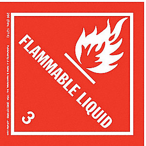 Flammable Liquid Label,4 in. H,PK500