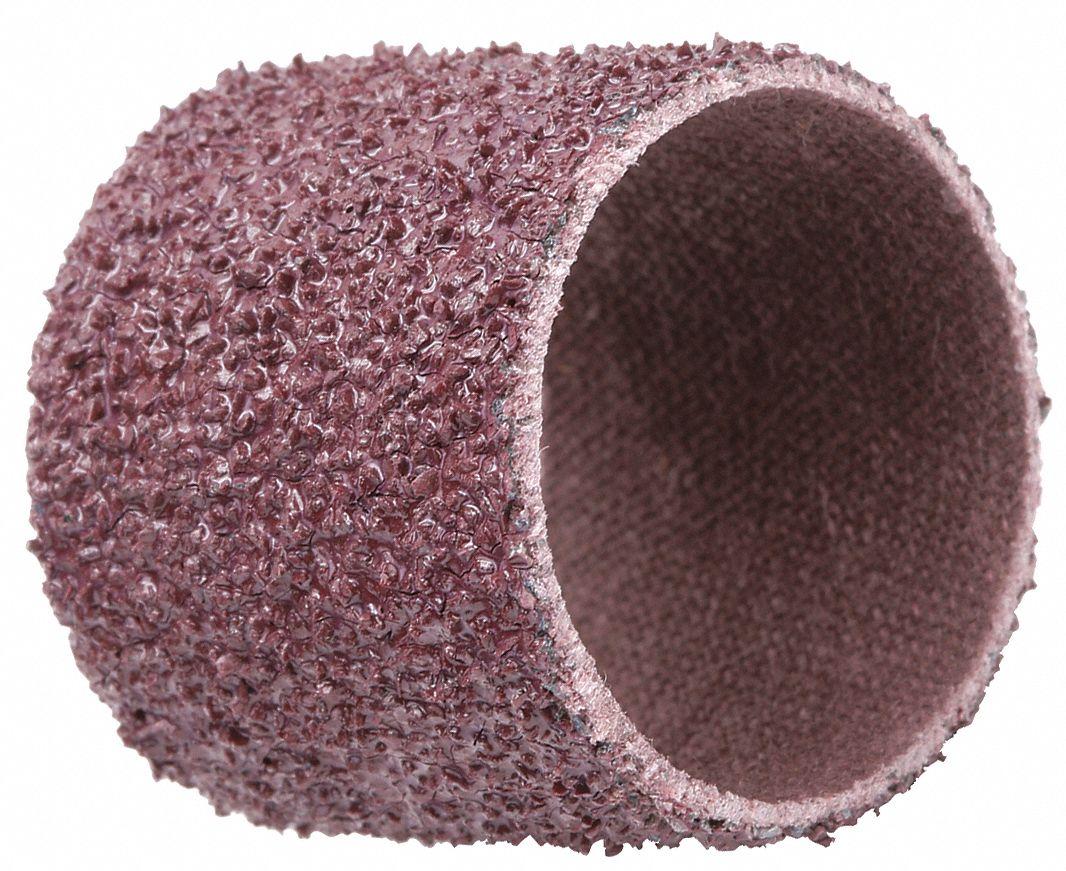 60 Grit : 1-1//2 x 1-1//2 Aluminum Oxide 100 Units Standard Abrasives Spiral Band, ID x L