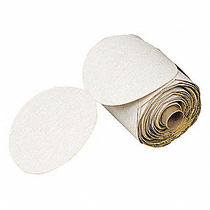 PSA Paper Disc Roll,80 Grit,6 in. Dia