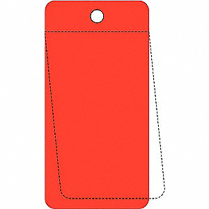 "Blank Tag, Red, Height: 3-1/4"" x Width: 5"", 25 PK"