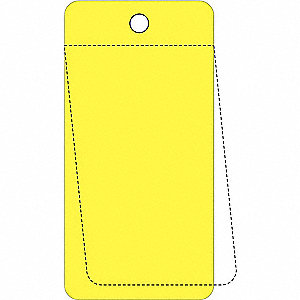 "Blank Tag, Yellow, Height: 3-1/4"" x Width: 5"", 25 PK"