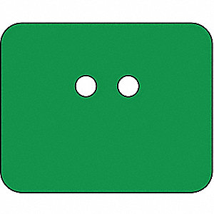 "Blank Tag, Green, Height: 2-1/2"" x Width: 2"", 25 PK"