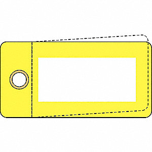 "Blank Tag, Yellow, Height: 3"" x Width: 1-1/2"", 25 PK"