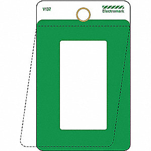 Blank Tag,3 x 1-1/2In,Green,PK25