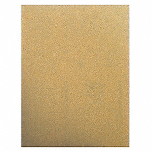 "Very Fine Aluminum Oxide Sanding Sheet, 180 Grit, 4"" L X 3"" W, Backing Weight : C, 50 PK"