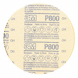 "5"" Coated Hook-and-Loop Sanding Disc, 800 Abrasive Grit, Ultra Fine Grade, Aluminum Oxide"