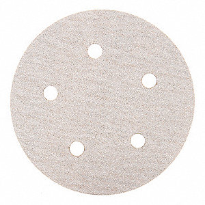 "5"" Coated Hook-and-Loop Sanding Disc, 80 Abrasive Grit, Coarse Grade, Aluminum Oxide"