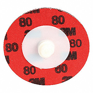 "2"" Coated Quick Change Disc, TR Roll-On/Off Type 3, 80, Coarse, Ceramic, 50 PK"