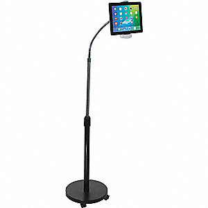 Tablet Gooseneck Floor Stand,Steel