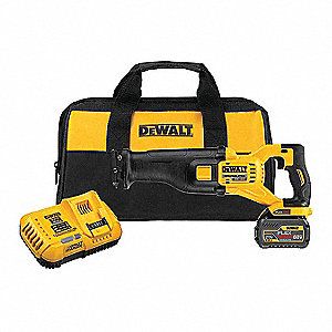"60.0V Cordless Reciprocating Saw Kit, Battery Included, 1-1/8"" Length of Stroke, Straight Cut"